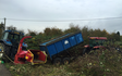 Rb land management ltd  with Round baler at Wickersley