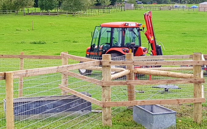 Mc country services limited with Fencing at Bedford Road