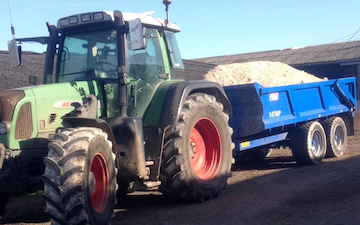 C r ellis contracting  with Tipping trailer at Axminster