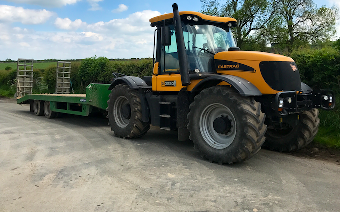 A j groundworks & plant hire with Tractor 201-300 hp at United Kingdom