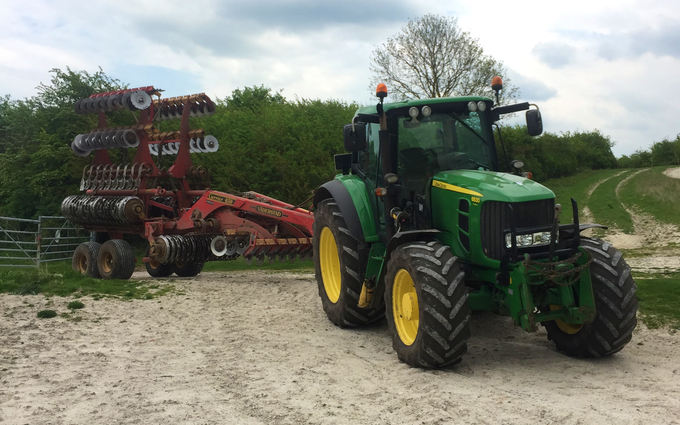 Aeh services with Seedbed cultivator at Reading Road