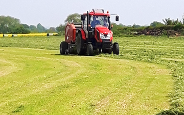G & b agri services with Mower at Boroughbridge