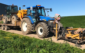 P j pengelly agricultural contracting  with Wrapper at Blackawton
