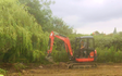 Mh agricultural ltd with Excavator at Cranfield