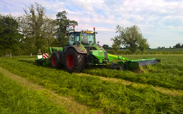 H c beales and co with Mower at Great Ellingham