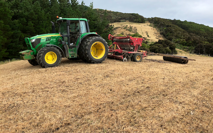 S & a marshall contracting ltd with Drill at Waikawa Valley