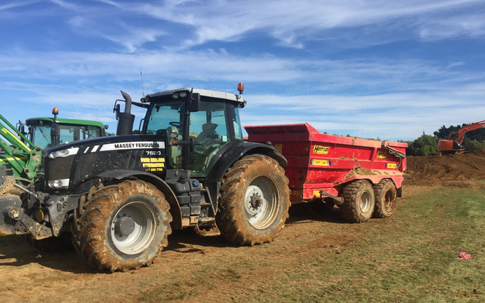 Four seasons contracting  with Dumper at Wallacetown