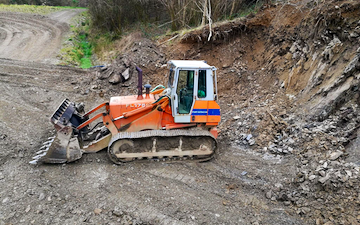 A.d.s agricultural contractors  with Excavator at Muddiford