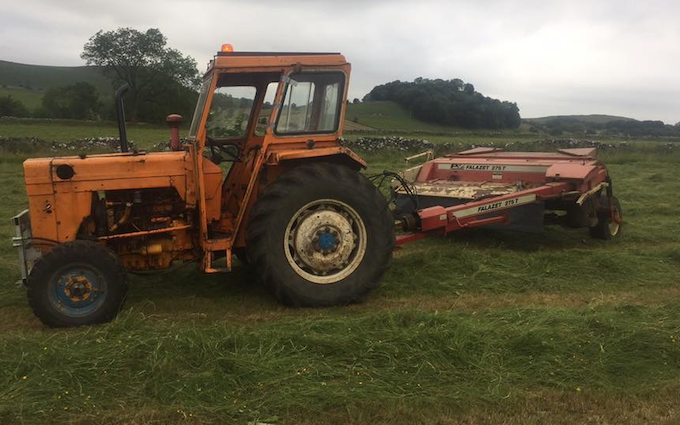 Bonsall agriculture services  with Mower at Alsop en le Dale