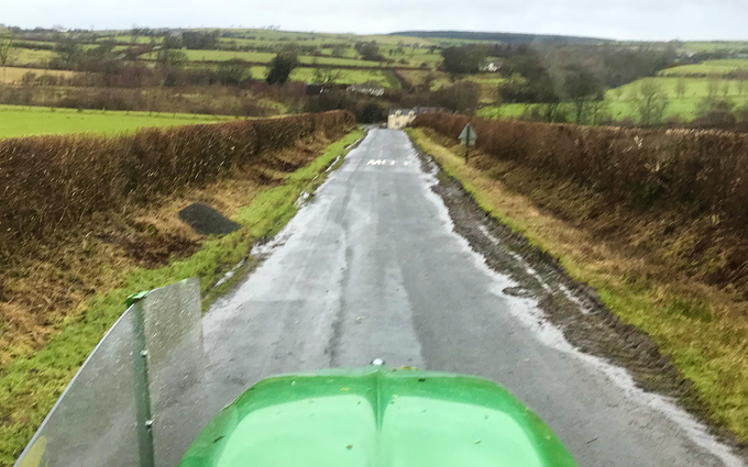 Lawson agri with Hedge cutter at Lorne Street