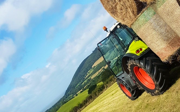 P.m ash agri services  with Tractor 201-300 hp at Wheddon Cross