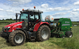East lodge farm services  with Round baler at Fox Lane