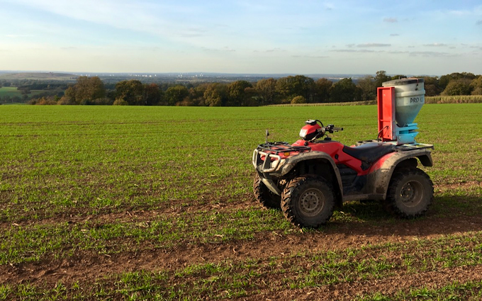 R s beaty and sons  with ATV sprayer at United Kingdom