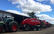 Norfolk straw products ltd with Large square baler at United Kingdom