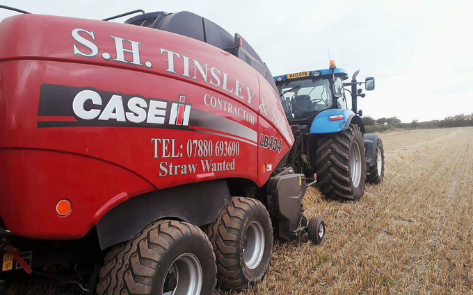 S.h tinsley with Large square baler at Bolsover