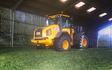 R.m simpson agriculture ltd with Forage harvester at Hunsworth Lane