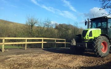 Bright's agri contracting with Fencing at Barn Park