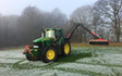 T&b agricultural contractors ltd with Hedge cutter at United Kingdom