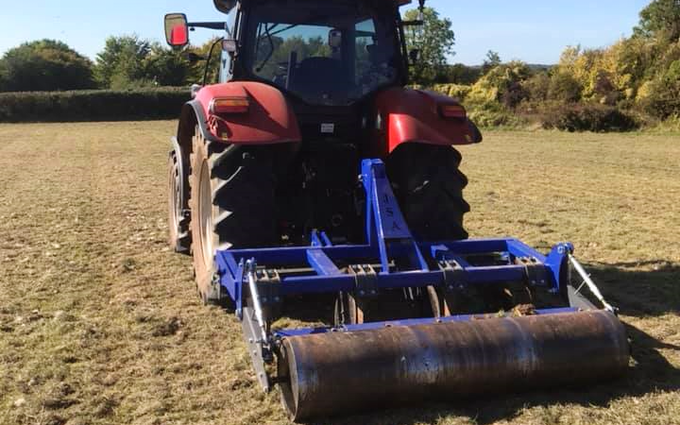 Mb land services  with Meadow aerator at Frampton Cotterell