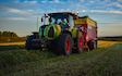 Jd fowles & partners  with Forage harvester at United Kingdom