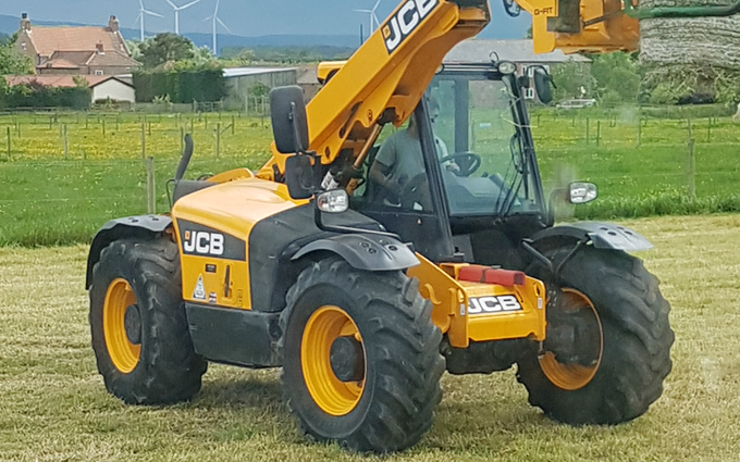 Stainton vale farm with Telehandler at Stainton