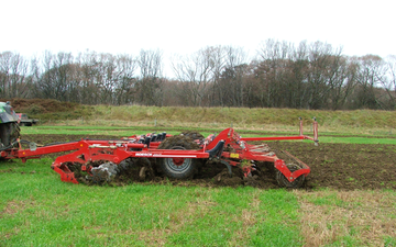Mckenzie brooker contracting  with Subsoiler at Oxford