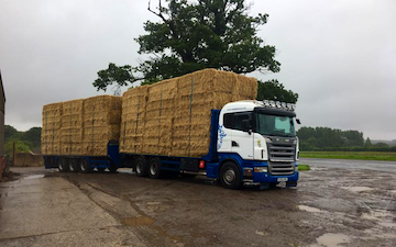 Norfolk straw products ltd with Flat trailer at United Kingdom