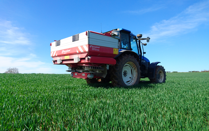 Oakfield contracting with Fertiliser application at United Kingdom