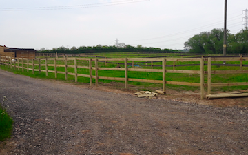 A chowns agricultural services  with Fencing at Cookhill