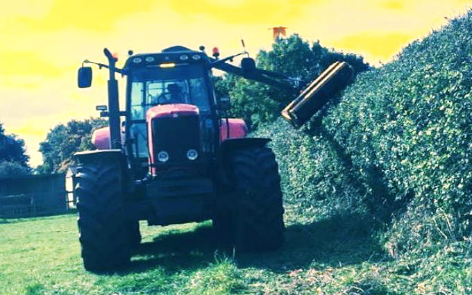 Marriott's contracting  with Hedge cutter at United Kingdom