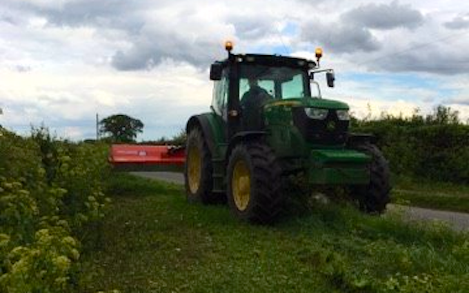 Thc agricultural services with Verge/flail Mower at Holt Road