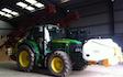 Flag leaf ltd with Tractor-mounted sprayer at Rossett