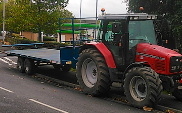 J brierley agricultural with Flat trailer at Rochdale