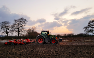 Charlbury farms ltd with Disc harrow at Swindon