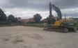 Nielsens entreprise & maskinstation med Gravemaskine ved Ringsted