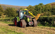 K m bray agri & plant contractor  with Hedge cutter at Talgarth