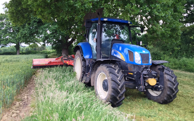 J & a agri services with Verge/flail Mower at Staplecross