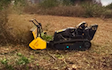 Pg groundcare ltd with Mulcher at Hollybank