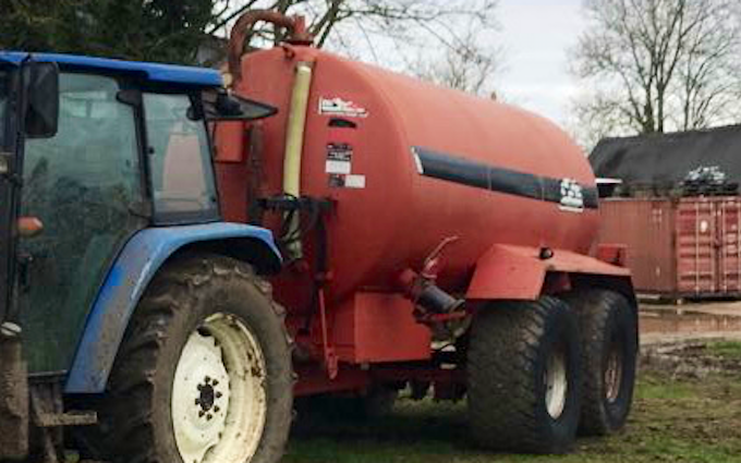 E&dg stevens  with Slurry spreader/injector at United Kingdom