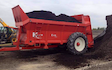 Martin hays contracting with Manure/waste spreader at Clay Cross