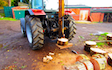 Ftgu-services with Log splitter at Chesterfield Road