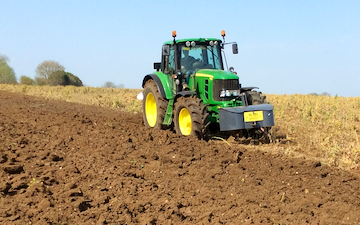 Rb agri services with Plough at New Alresford