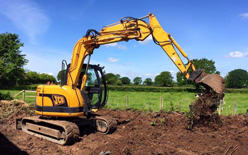 Jon richards contracting  with Excavator at East Hewish