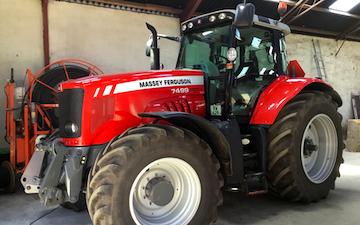 Hb markservice med Traktor 201-300 hk ved Herning