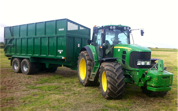 Pg groundcare ltd with Silage trailer at Hollybank