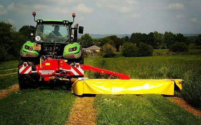 Belsham farming with Mower at Brenchley