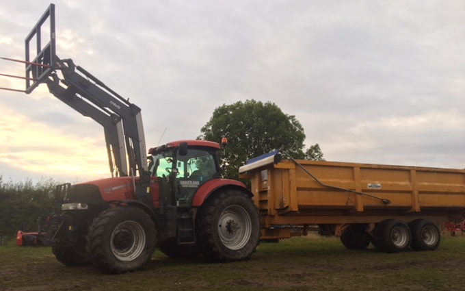 Grassland farm services with Tractor 201-300 hp at Greenland Lane
