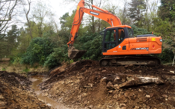 Askew forestry with Excavator at Lawkland