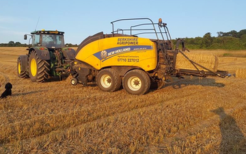 Berkshire agripower ltd with Large square baler at Chieveley