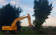 Olsen contracting  with Forestry harvester at Windwhistle